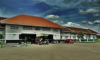 Karawang railway station - Karawang railway station (front view)