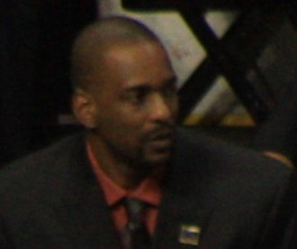 Stacey Augmon - Augmon in 2009 as Denver Nuggets assistant coach.