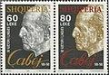 Stamp of Albania - 1998 - Colnect 370791 - Eqrem Çabej 1908-1980 Albanian historical linguist.jpeg