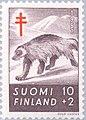Stamp of Finland - 1957 - Colnect 46261 - Wolverine Gulo gulo.jpeg