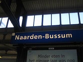 Naarden-Bussum railway station - Image: Station Naarden Bussum