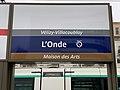 Station Tramway IdF Ligne 6 Onde - Vélizy-Villacoublay (FR78) - 2021-01-03 - 1.jpg