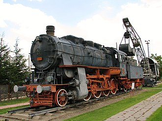 TCDD Open Air Steam Locomotive Museum - Image: Steam locomotive No.45035 Ankara Museum