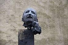 Stefan Zweig, Büste von Josef Zenzmaier, 1983 in Salzburg auf dem Kapuzinerberg aufgestellt (Quelle: Wikimedia)