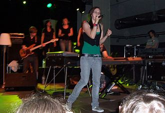 Stefanie Heinzmann - Heinzmann at a concert in Gießen, Germany, in November 2008