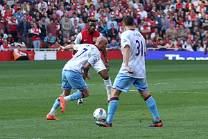 Stephen Ireland - Ireland in action for Aston Villa in 2012