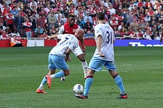 Stephen Ireland - Ireland in action for Aston Villa in 2012