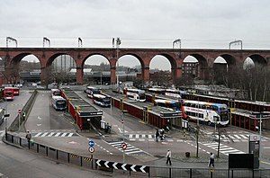 Stockport Bus Station and Stockport Viaduct at...