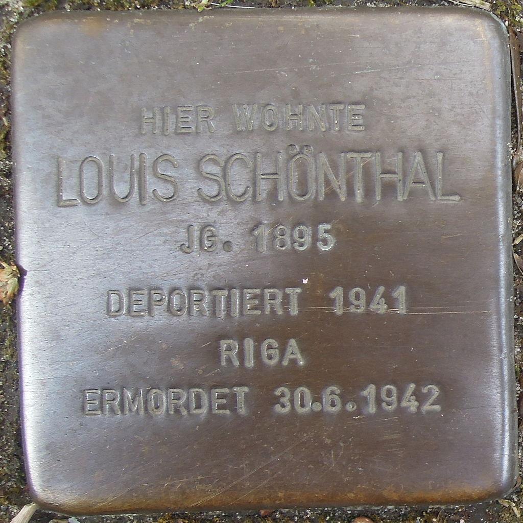 Stolperstein Herford Credenstraße 35 Louis Schönthal
