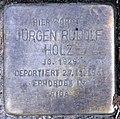 Stolperstein Holsteinische Str 34 (Fried) Jürgen Rudolf Holz.jpg