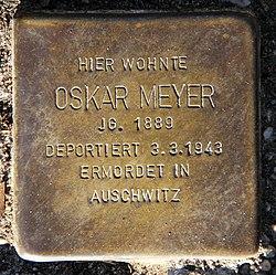 Photo of Oskar Meyer brass plaque