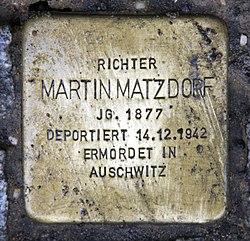 Photo of Martin Matzdorf brass plaque