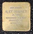 Stolperstein Platz der Vereinten Nationen 28 (Frhai) Alice Berliner.jpg