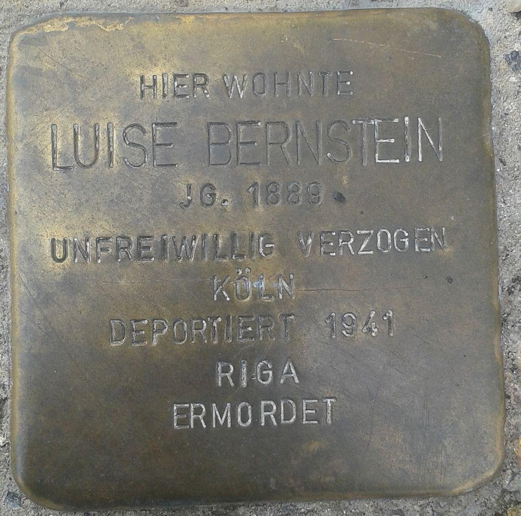 Stolperstein Selters Bahnhofstraße 11 Luise Bernstein