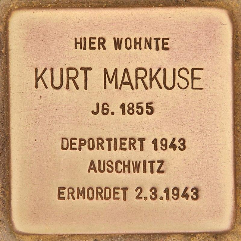 Stolperstein für Kurt Markuse (Zehdenick).jpg