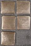 Stolpersteine für Julius, Frieda, Ruth, Manfred und Fanny Meiberg