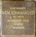 Stolpersteine Würzburg, Amon Schwabacher (Bismarckstraße 7).jpg