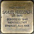 Stolpersteine Würzburg, Samuel Nussbaum (Domstraße 68).jpg