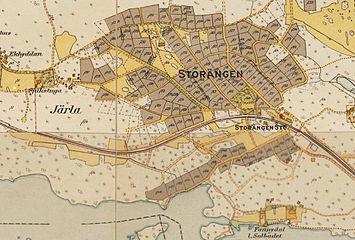 Storengen med omgivelse 1917-1934.