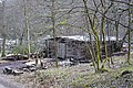 Storage building and timber stacks near Gibson Mill, Hardcastle Crags - geograph.org.uk - 835071.jpg