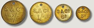 Token coin - A set of Strachan and Co tokens