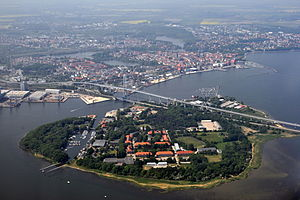 Strelasund Crossing - The two bridges over the Strelasund, connecting Stralsund and Rugia Island
