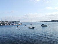 Strangford Lough from Portaferry, looking towards the narrows.