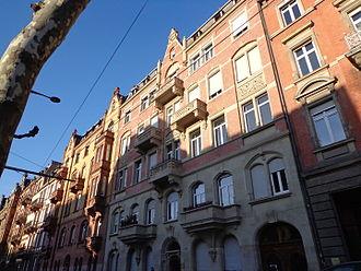 Neustadt (Strasbourg) - 1893 houses on Boulevard de la Victoire (picture taken in 2015)