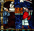 Strasbourg Cathedral - Stained glass windows - Jesus healing a woman on Sabbath (detail).jpg