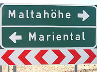 German place names are especially prevalent in the south of the country