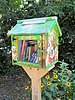Street book exchange Little Free Library Bennett Park Hudson Heights Manhattan