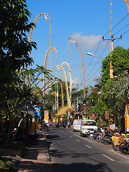 Street decoration for Galungan celebration