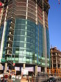 Structure of the Infinity (300 Spear Street) tower II and curtainwall glass panels, SF.JPG
