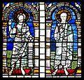 Sts Jean Baptiste et Évangéliste, vitrail roman, Cathédrale de Strasbourg.jpg