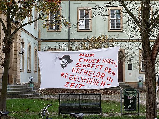 Studenten Protest in Bamberg-2009