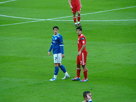 Whittingham (in blue) and Liverpool's Luis Suarez in the 2012 League Cup Final Suarez and Whittingham.jpg