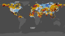 File:Summer temperatures Northern Hemisphere 1955 to 2011.ogv
