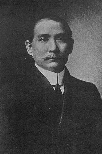 "Kuomintang - The KMT revere founder Sun Yat-sen as the ""Father of the Nation"". Sun is pictured here in 1917."