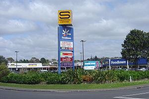 Sunnynook, New Zealand - The bustling Sunnynook Shopping Centre