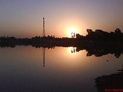 Sunrise at Takhatgarh Talab.JPG