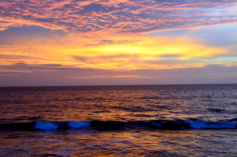 Sunset at Galle Face Colombo.JPG