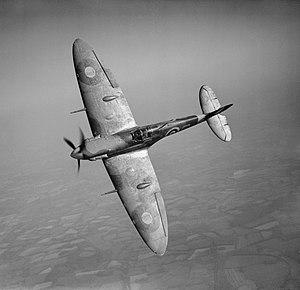 Alois Vašátko - RAF Spitfire Mk VB fighter in flight