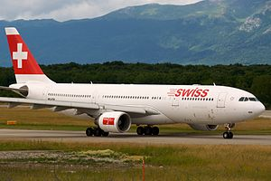 Swiss A330-200 HB-IQH in Geneva International ...