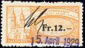 Switzerland Basel 1911 registry office revenue 12Fr - 14.jpg