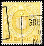 Switzerland Neuchâtel 1890 revenue 4 20c - 17C.jpg