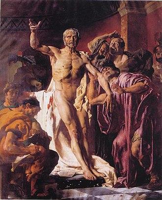 Joseph-Noël Sylvestre - Image: Sylvestre La Mort de Seneque 1875