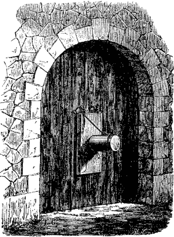 T3- d386 - Fig. 263. — Pétard attaché à la porte d'une ville.png