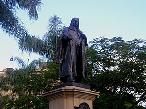 Queens Gardens, Brisbane - TJ Ryan statue, 2005