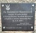 Tablica upamiętaniająca płk. Stanisława Hojnowskiego patrona III LO w Tomaszowie Mazowieckim.jpg