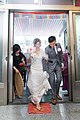 Taiwanese brides crushing a tile while entering the house.jpg